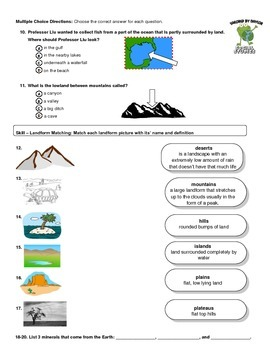 MCSB –Harcourt 3rd Grade Louisiana S. Studies: Ch. 3 Lesson 1&2 Study Guide/Test
