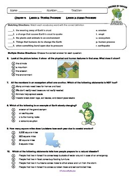 MCSB –Harcourt 3rd Grade Louisiana S. Studies: Ch. 4 Lesson1&2 Study Guide/Test