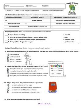MCSB –Harcourt 3rd Grade Louisiana S. Studies: Ch. 5 Lesson1&2 Study Guide/Test