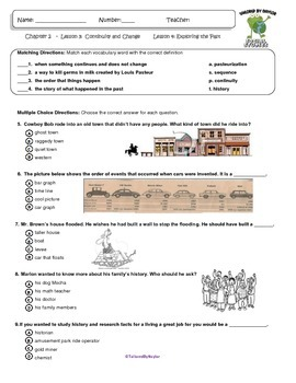 MCSB –Harcourt 3rd Grade Louisiana S. Studies: Ch. 2 Lesson 1&2 Study Guide/Test