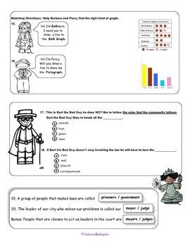 MCSB – Harcourt 3rd Grade Social Studies: Ch.1 - Lesson 3&4 Study Guide & Test