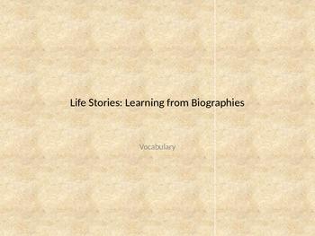 MCU Life Stories: Biographies Vocabulary