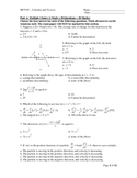 MCV4U - Calculus and Vectors Final Exam Review (Exam Sample)