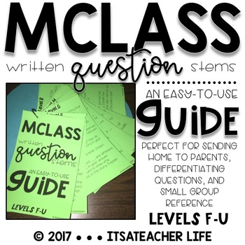 MClass Question Stems | Easy-to-Use Guide