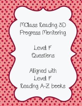 mClass Reading 3D Progress Monitoring Questions Level F wi