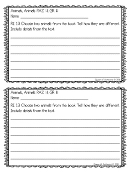 MClass TRC Written Response Practice Using Reading A-Z Level H