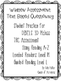 MClass TRC Written Response Practice Using Reading A-Z Level M