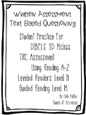 MClass TRC Written Response Practice Using Reading A-Z Level N