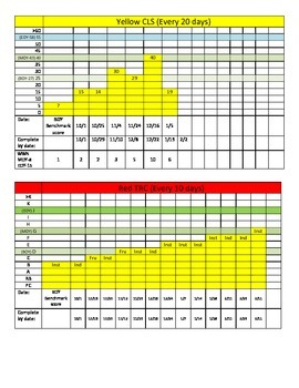 MClass TRC and Dibels Data Progress Monitoring-1st Grade
