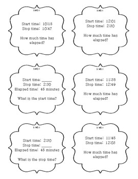 MD.1 Time, Time Intervals, and Elapsed Time