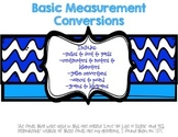 Measurement Conversions Posters
