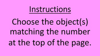 MD ID SPED Classroom Numbers and Counting 1-10 PowerPoint Non-Verbal Eye-Gaze