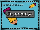 Math MD Jeporady Fourth Grade Review Test Prep Game