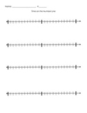 MD.1 Telling Time on a Number Line Template