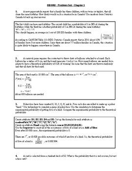 MDM4U - Chapter 1 Assignment