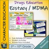 MDMA Drugs Education Lesson