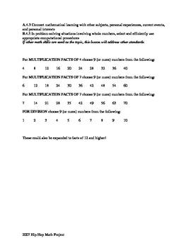 MDR -Math Dance Revolution Lesson