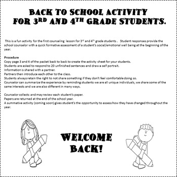 ME AND MY FAVORITES:BACK TO SCHOOL ACTIVITY AND ASSESSMENT