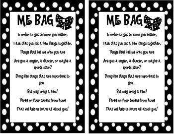 """""""ME BAG"""" TAG Getting to Know You"""