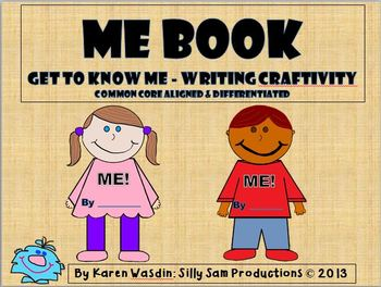 ALL ABOUT ME BOOK Get to Know Me-Writing Craftivity Common Core Differentiated
