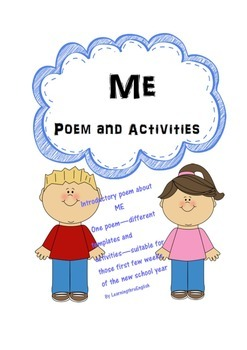 BACK TO SCHOOL ME POEM AND ACTIVITIES