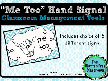 WHOLE CLASS BEHAVIOR MANAGEMENT SYSTEM non-verbal hand signals