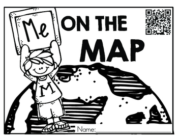 ME on the Map {QR Codes} NO PREP