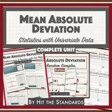 MEAN ABSOLUTE DEVIATION Unit 2 BUNDLE Statistics w Univariate Data 30%OFF