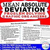 MEAN ABSOLUTE DEVIATION Word Problems with Graphic Organizers