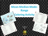MEAN, MEDIAN, MODE AND RANGE COLORING BY NUMBER