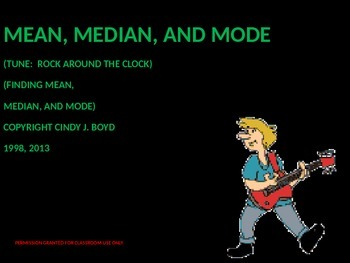 MEAN, MEDIAN, MODE SONG