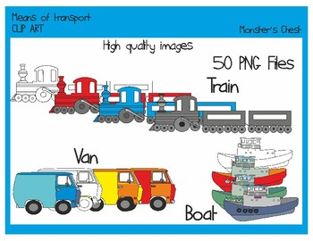 MEANS OF TRANSPORT CLIP ART