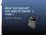 MEAP vocabulary PowerPoint-Part 1