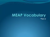 MEAP vocabulary PowerPoint-Part 2