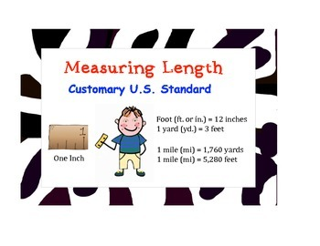 Common Core Measurement Posters (Zebra Border)