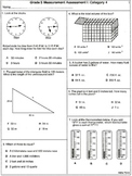 Measurement: 5th Grade Assessments 7 tests  (printable)