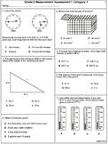 Measurement: 5th Grade Assessments 7 tests  (printable)