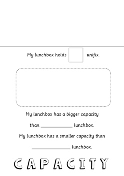 MEASUREMENT AND CAPACITY-  LUNCH BOX MATHS PROJECT