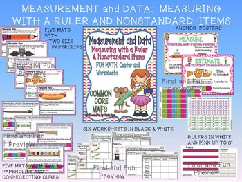 MEASUREMENT AND DATA COMPARING BUNDLE GAMES & WORKSHEETS COMMON CORE MAFS