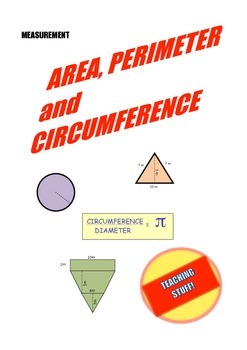 MEASUREMENT: AREA, PERIMETER and CIRCUMFERENCE HANDOUTS and TEST