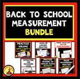 MEASUREMENT BACK TO SCHOOL Review Activities Worksheet Bundle