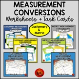 MEASUREMENT Bundle - Customary & Metric Conversions, Word Problems, Task Cards