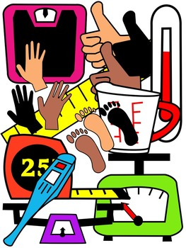 MEASUREMENT CLIPART * COLOR AND BLACK AND WHITE