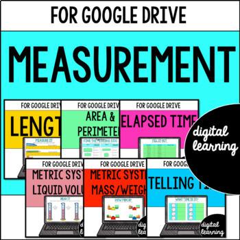 MEASUREMENT Third-Grade Common Core Bundle for Google Classroom DIGITAL