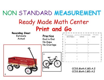 MEASUREMENT  NON STANDARD Ready Made Math Center Print and Go