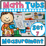 MEASUREMENT Year of Morning Math Tubs or Math Centers Set 7!