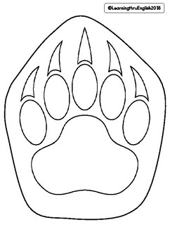 MEASUREMENT - draw a LIFE SIZE POLAR BEAR PAW compare to your hand size
