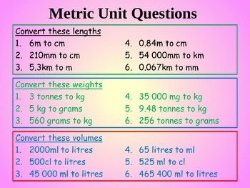MEASURES AND CONVERSIONS