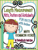MEASURING LENGTH & HEIGHT MAT N WORKSHEETS & POSTERS COMMO
