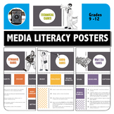 MEDIA LITERACY - 4 X POSTERS for high school -  Visual Lit